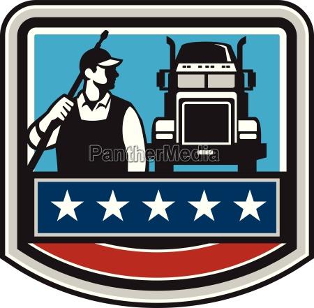 pressure washer worker truck crest usa