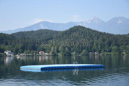 stkanzian beach sankt kanzian lake dock
