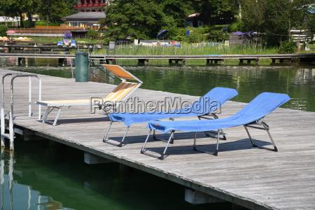 lake klopein deck chair sunbed bathing