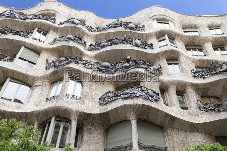 casa mila modernist building designed
