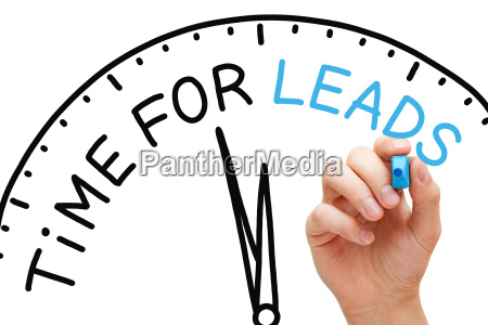 time for leads concept