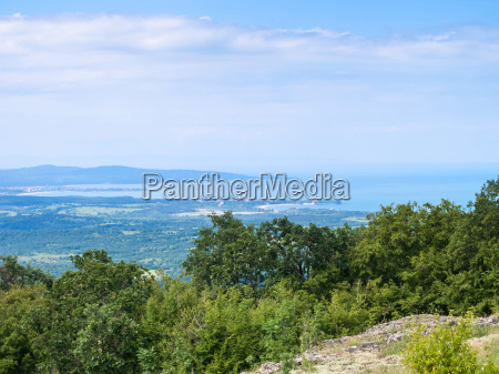 view of black sea coast with