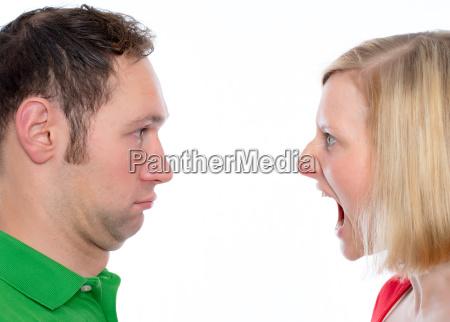 woman scream at so her husband