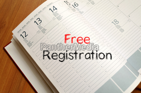 free registration write on notebook