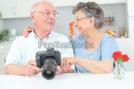 old couple with hobby
