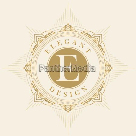 elegant vector emblem template