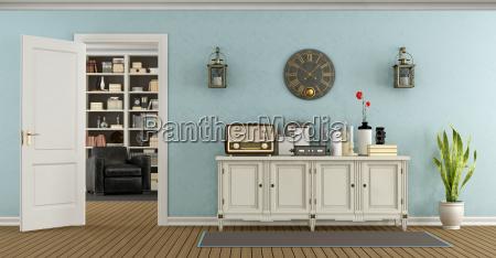 silla azul objetos muebles espacio antiguo