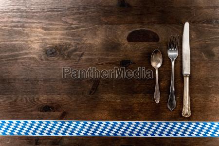 bayern oktoberfest background cutlery