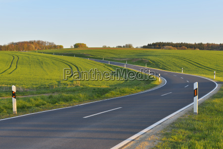 country road in spring birkenfeld main