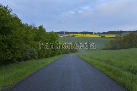 rural road in spring schippach miltenberg