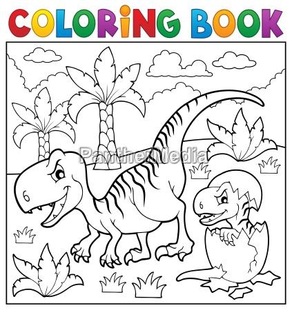coloring book dinosaur theme 9