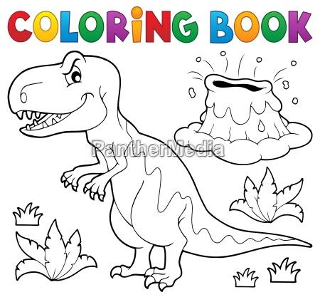 coloring book dinosaur topic 1