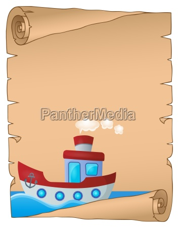 parchment with nautical boat theme 1