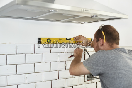 a man working in a new