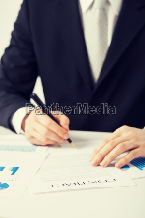 man with contract