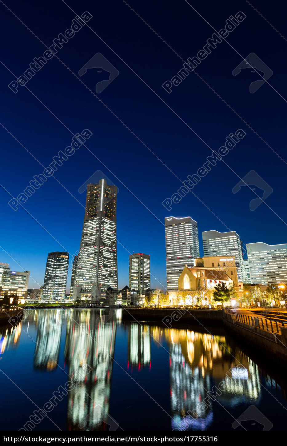 yokohama, city, at, night - 17755316