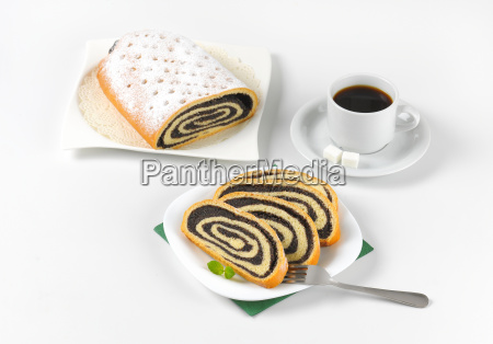 poppy, seed, roll, and, cup, of - 17764196