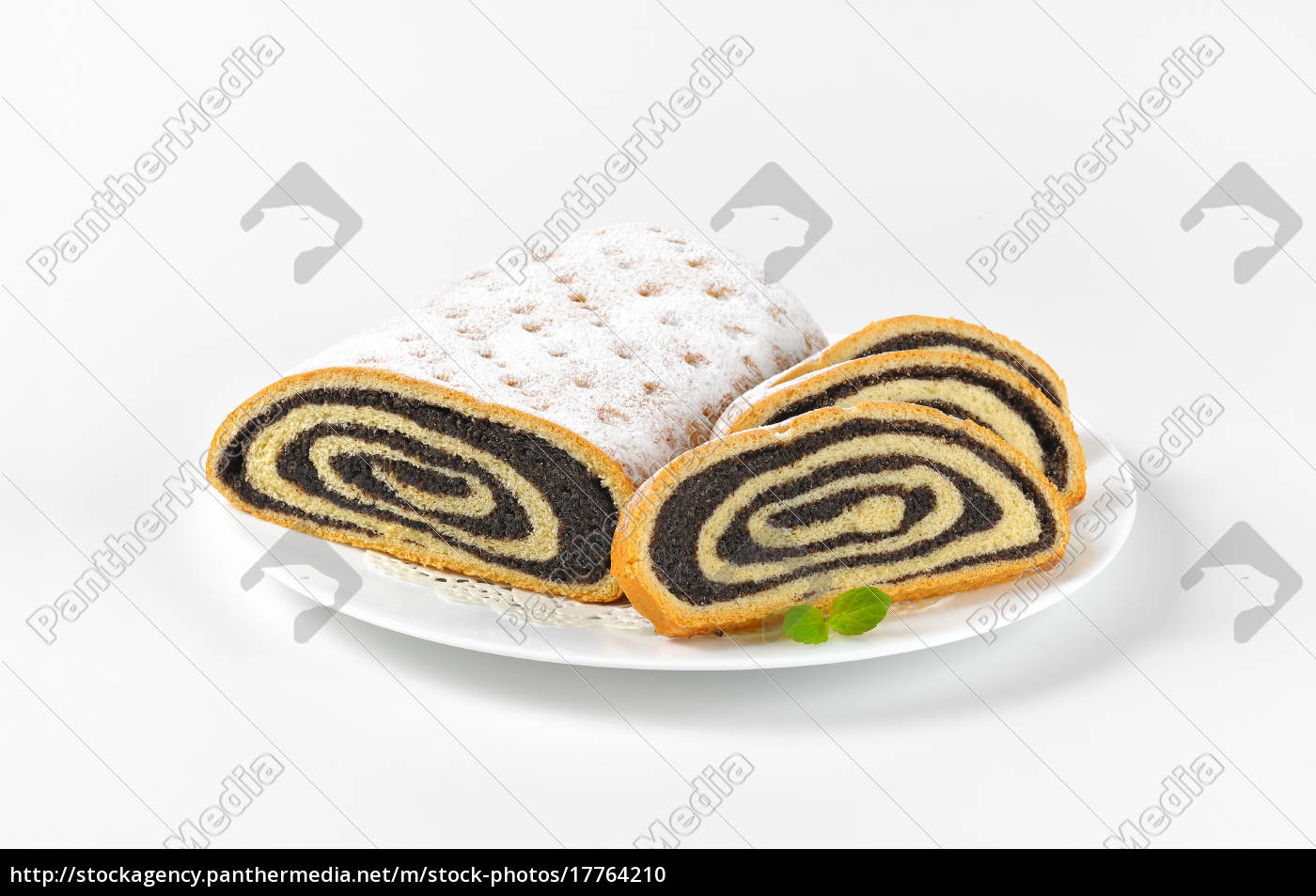 sliced, poppy, seed, roll - 17764210