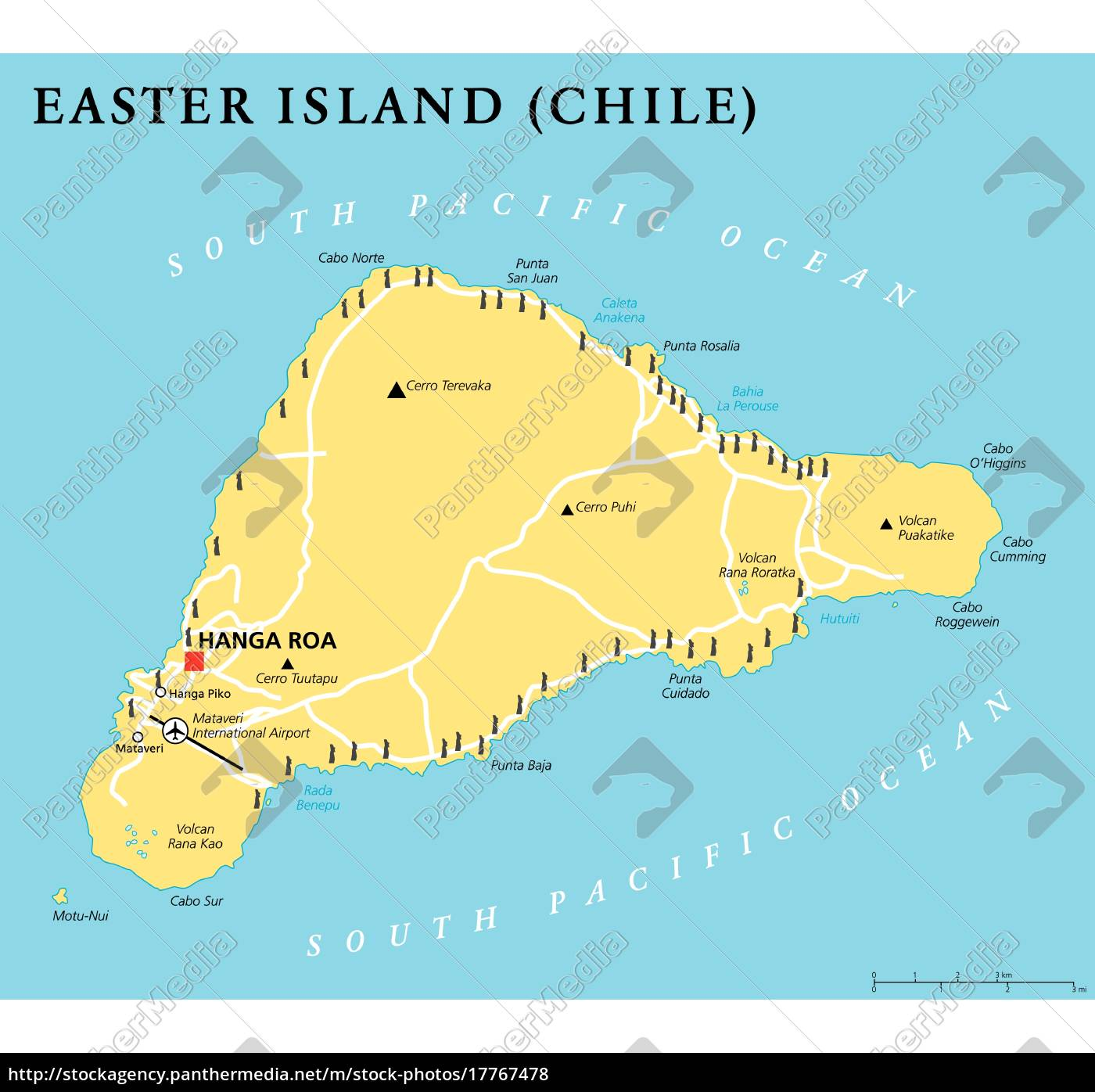 Easter Island Political Map Stock Image 17767478