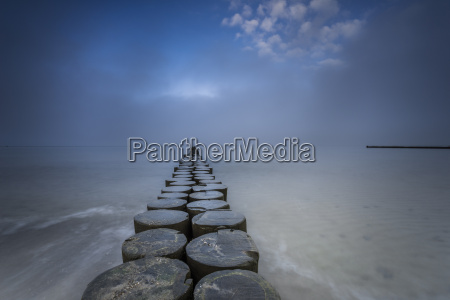 groynes in the baltic sea and