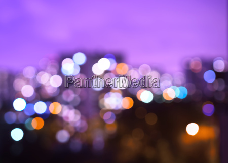 horizontal pink night city bokeh background