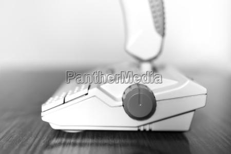 black and white retro arcade joystick