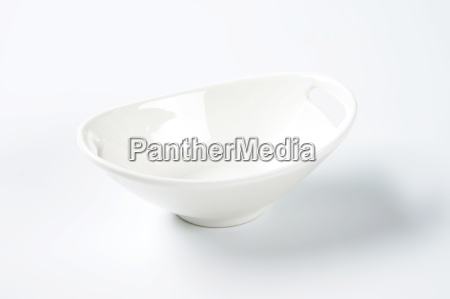 white oval bowl with handles