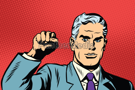 politician protest solidarity gesture up fist