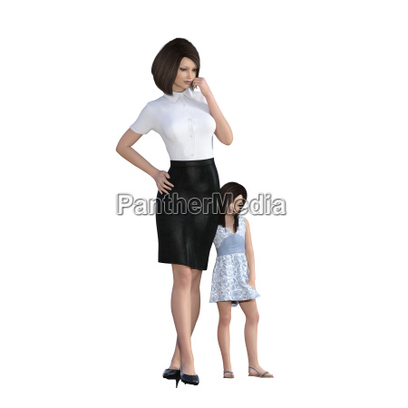 mother daughter interaction of girl hugging