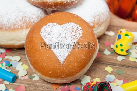 berliner pancake with heart