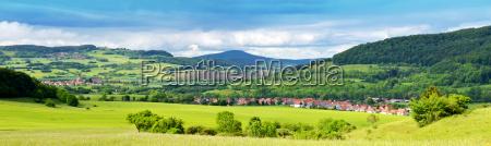 the rhoen in thuringia overlooking diedorf