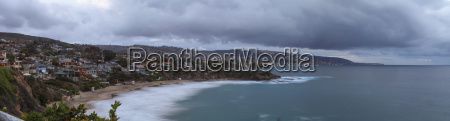rain clouds over crescent bay at