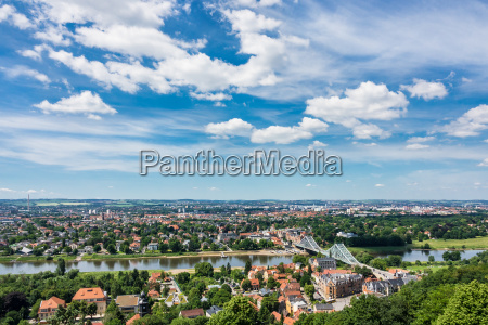 view over the elbe in dresden