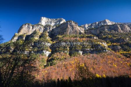 autumn landscape in ordesa national park