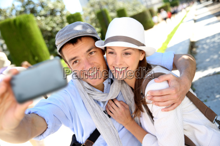 couple taking picture of themselves with