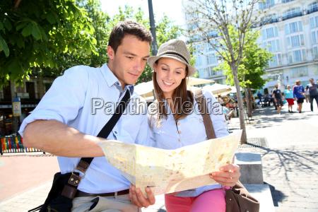 couple in santa ana square of