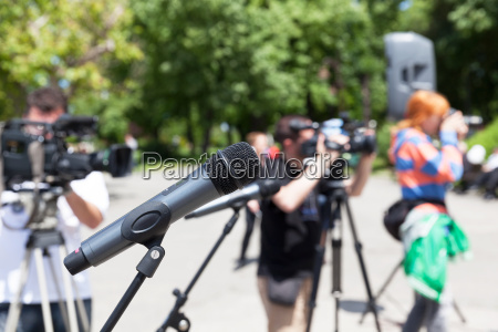 news conference microphone