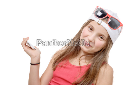 portrait of a preteen girl with