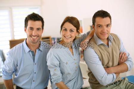 portrait of cheerful and successful business