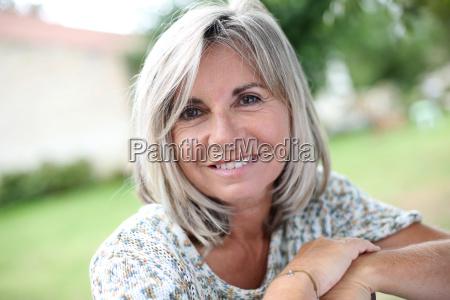portrait of serene mature woman in