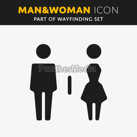 vector man and woman icons
