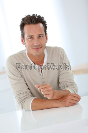 portrait of handsome 40 year old
