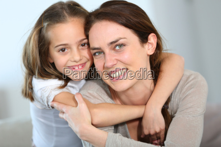 portrait of mother and daughter in