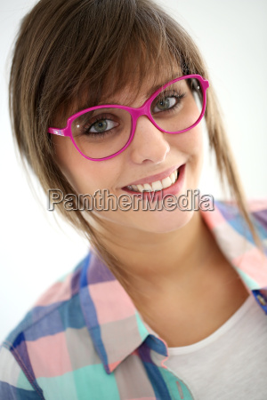portrait of young trendy girl with