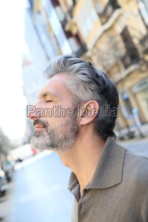 portrait of serene mature man in