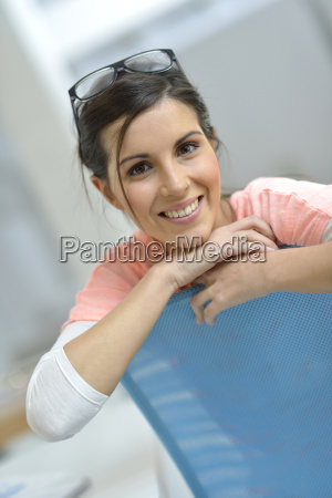 portrait of relaxed young woman in