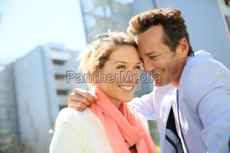sweet loving 40 year old couple