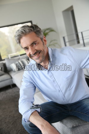 portrait of handsome mature man with