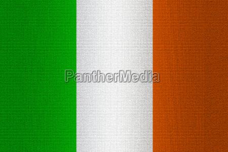 flag of ireland on stone