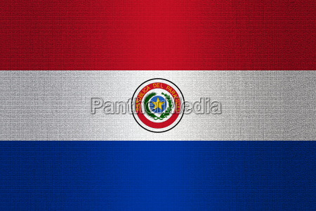 flag of paraguay on stone
